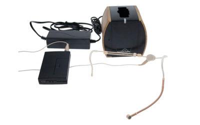 Hodebøylemikrofon mod. 11 med sender og lader