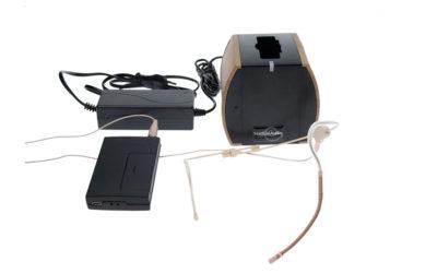 Hodebøylemikrofon mod. 8 med sender og lader