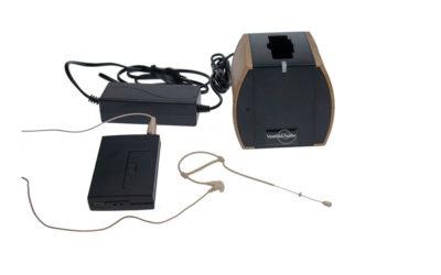 Ørebøylemikrofon mod. 4 med sender og lader
