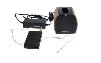 Ørebøylemikrofon mod. 5 med sender og lader