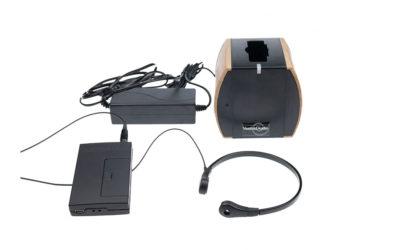 Strupemikrofon mod. 1 med sender og lader